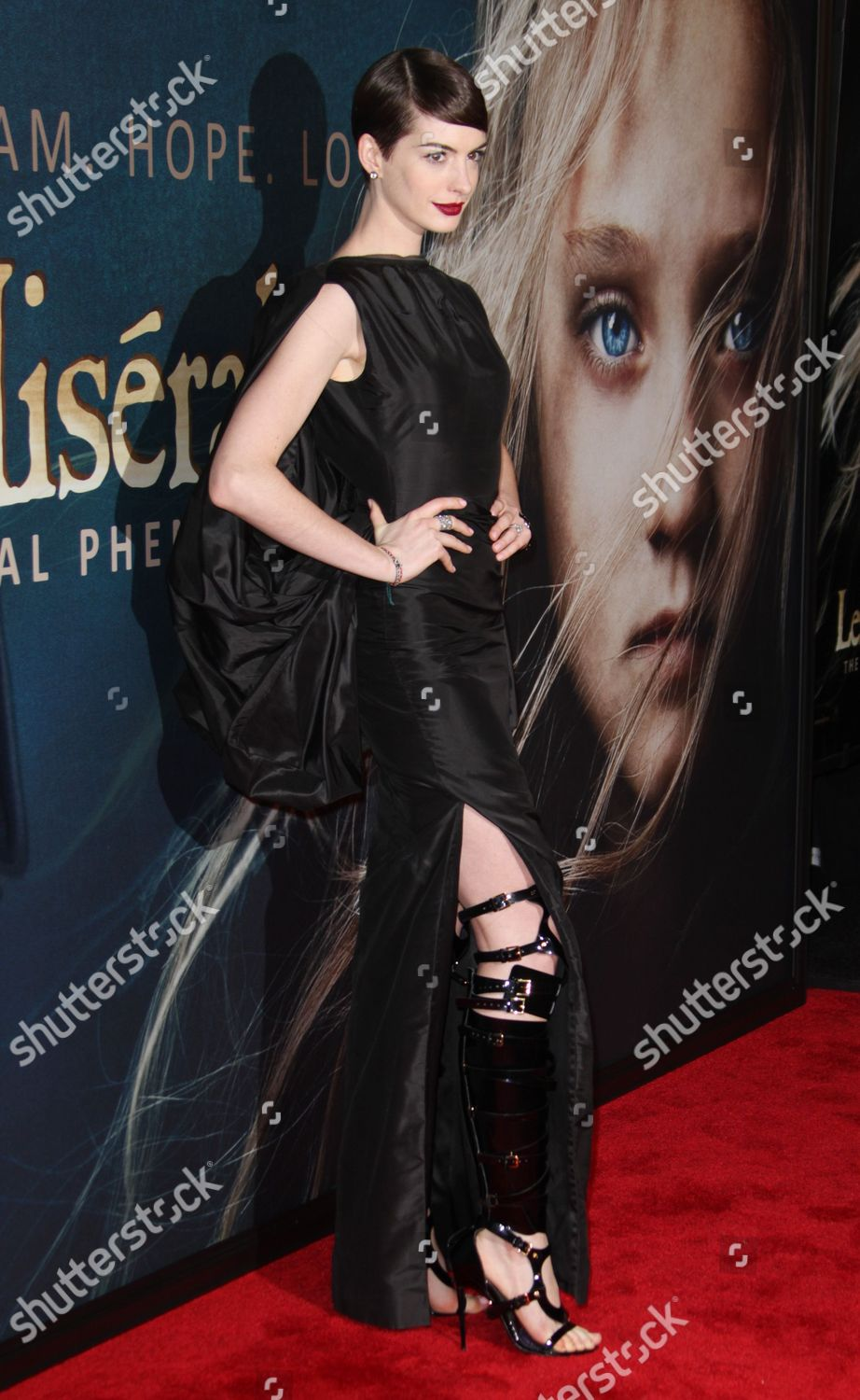 bb44479dc9ae Anne hathaway editorial stock photo stock image shutterstock jpg 922x1500  Anne hathaway gladiator boots