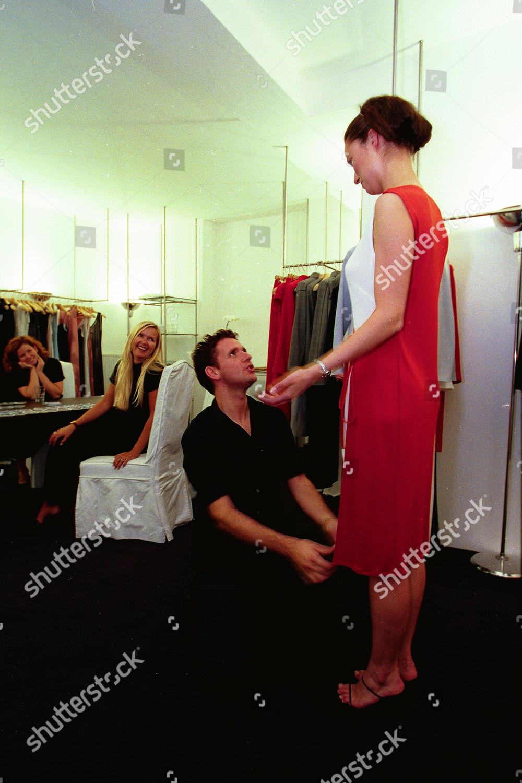 Amanda Wakeley Fashion Designer Checks Through Polaroids Editorial Stock Photo Stock Image Shutterstock