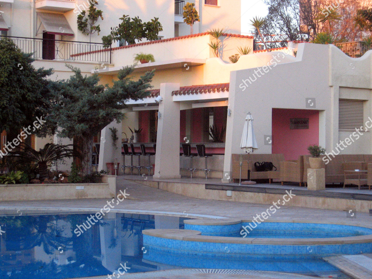 Outside Bar Curium Palace Hotel Limassol Cyprus Editorial Stock