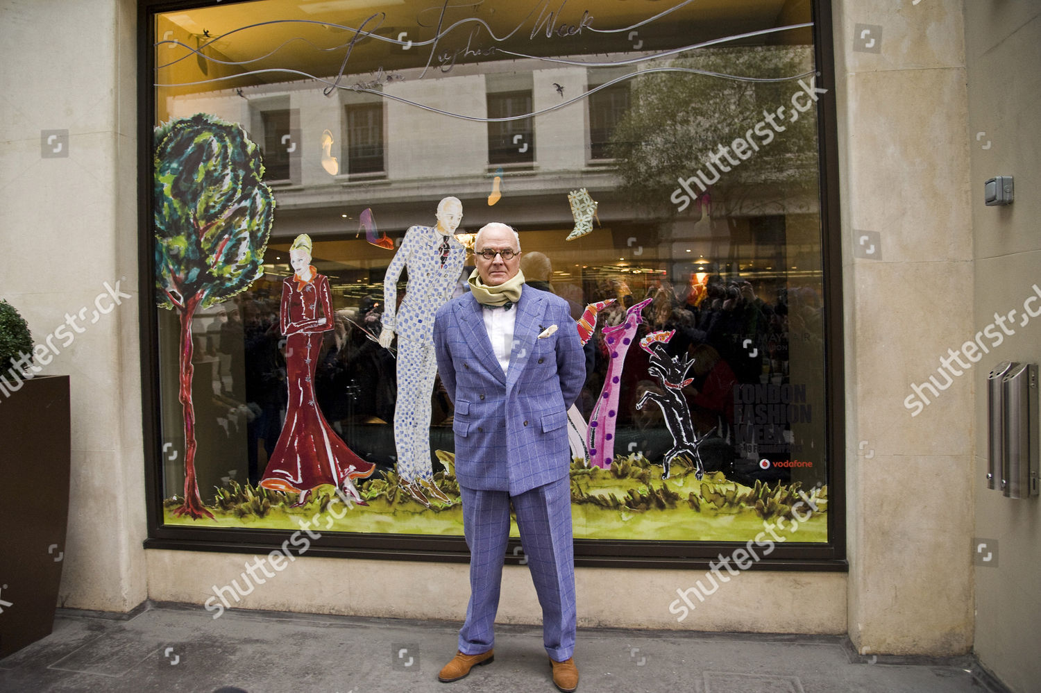 e6cc0026a7aa7 Manolo Blahnik unveils a window display designed by him, for London Fashion  Week. May