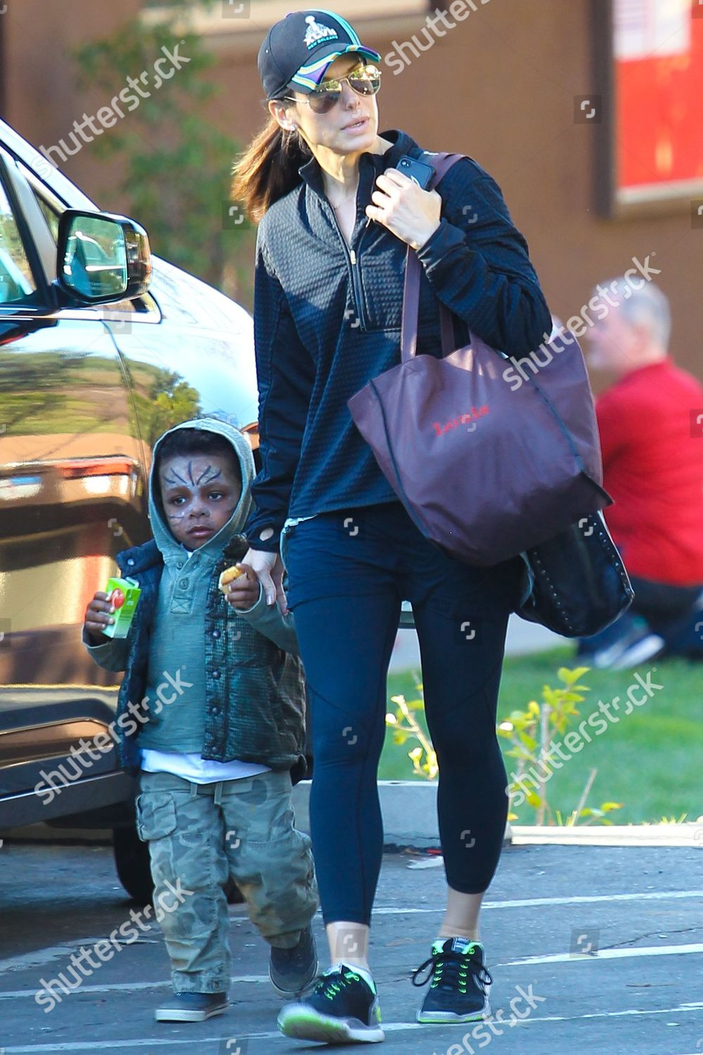 Sandra Bullock son Louis Bardo Editorial Stock Photo - Stock Image