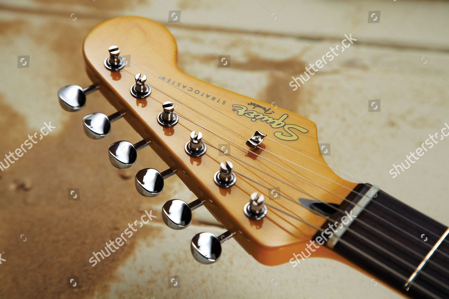 headstock squier vintage modified surf stratocaster electric editorial stock photo stock image. Black Bedroom Furniture Sets. Home Design Ideas