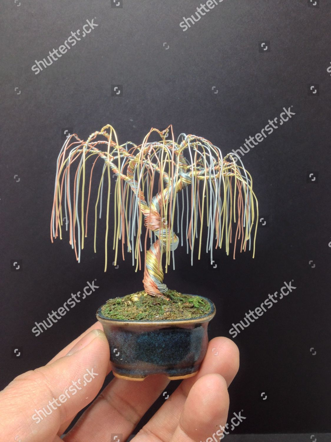 Copper Wire Bonsai Tree By Ken Editorial Stock Photo Stock Image Shutterstock