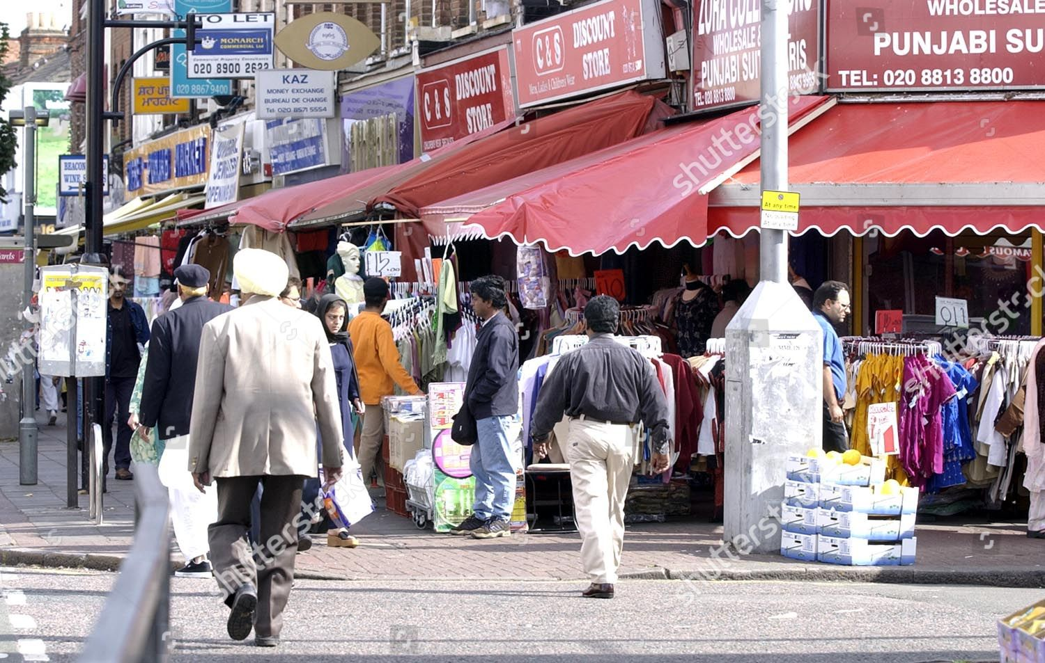 Street Scene Southall West London Somali Asian Editorial Stock Photo
