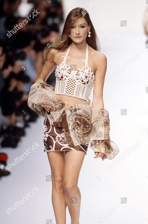 Carla Bruni Modelling On Catwalk Editorial Stock Photo Stock Image Shutterstock