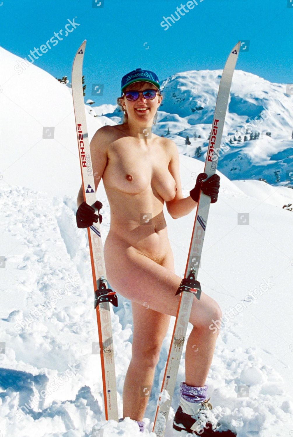 Ski naked woman images, stock photos vectors