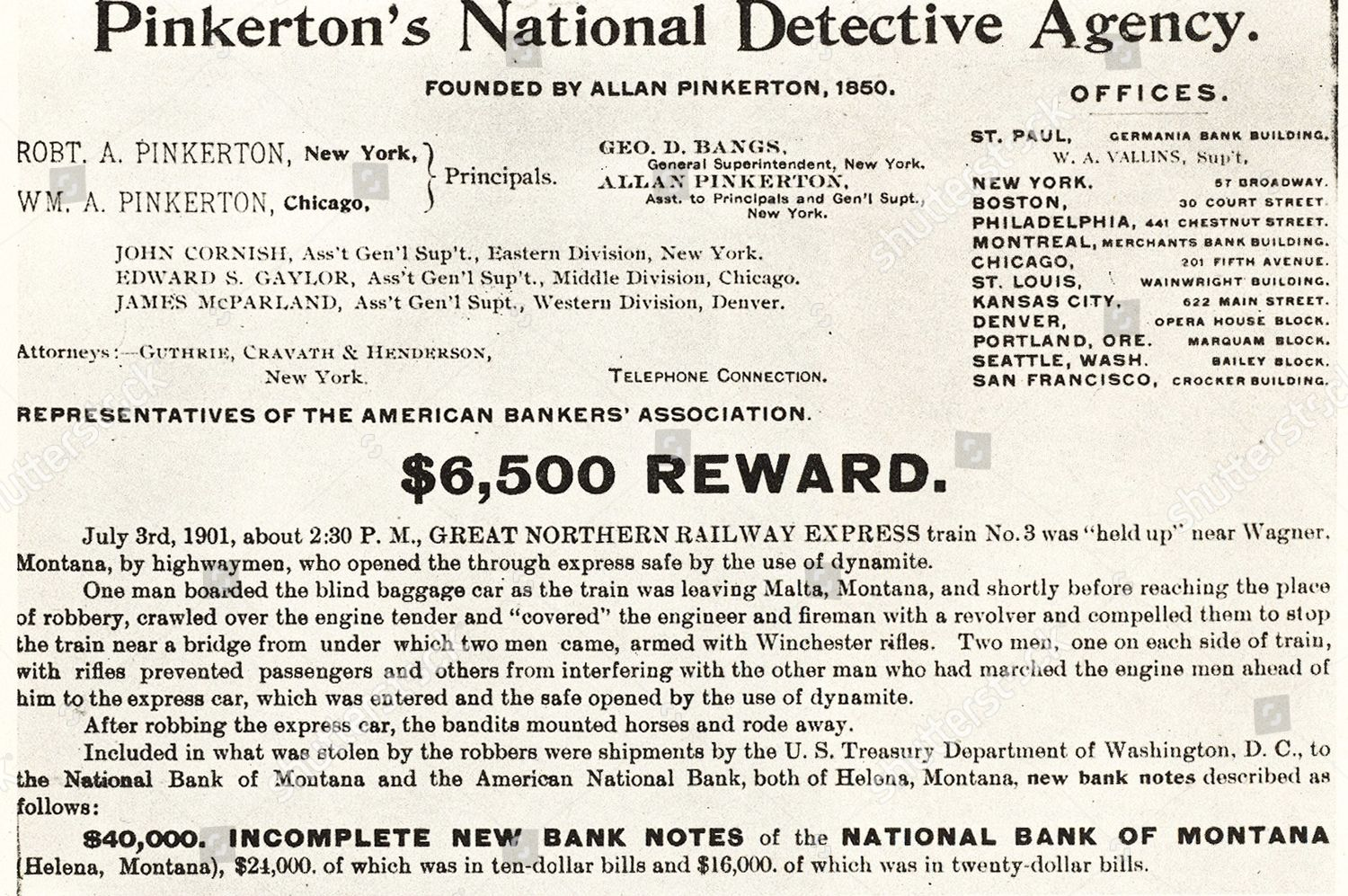 Pinkertons National Detective Agency American private