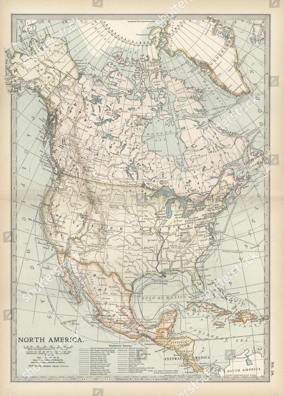 Map North America Central America Editorial Stock Photo ...