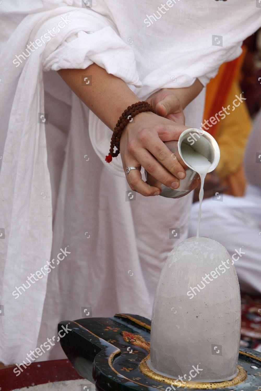 Lingam puja Parmath Editorial Stock Photo - Stock Image