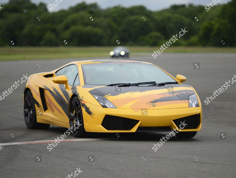 editorial stock photo of lamborghini gallardo taking passengers