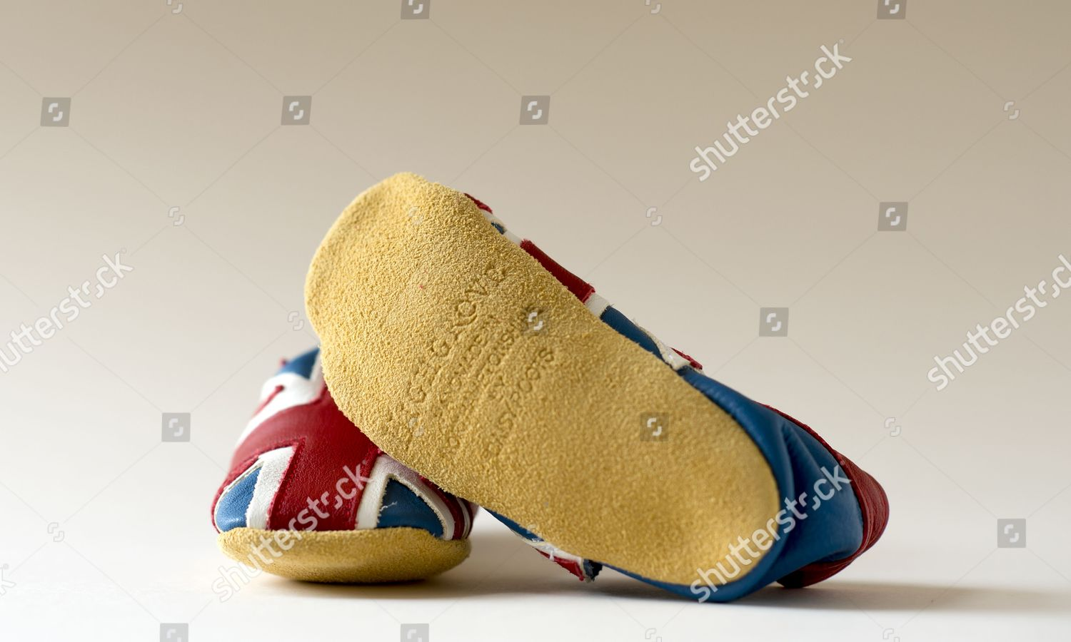 2e0d12b4f Stock photo of Union flag baby shoes for sale at the Highgrove store,  Britain -