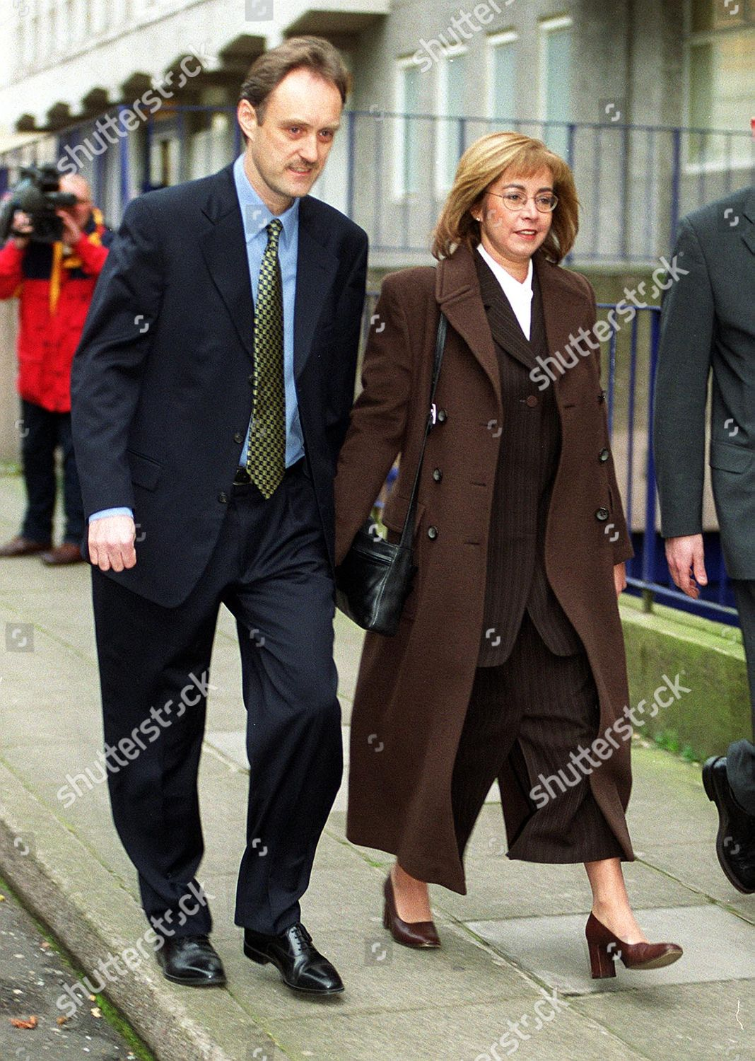 Amanda Holt Leaves Manchester Magistrates Court With Her Husband Steven. Sex  On Plane Charges.