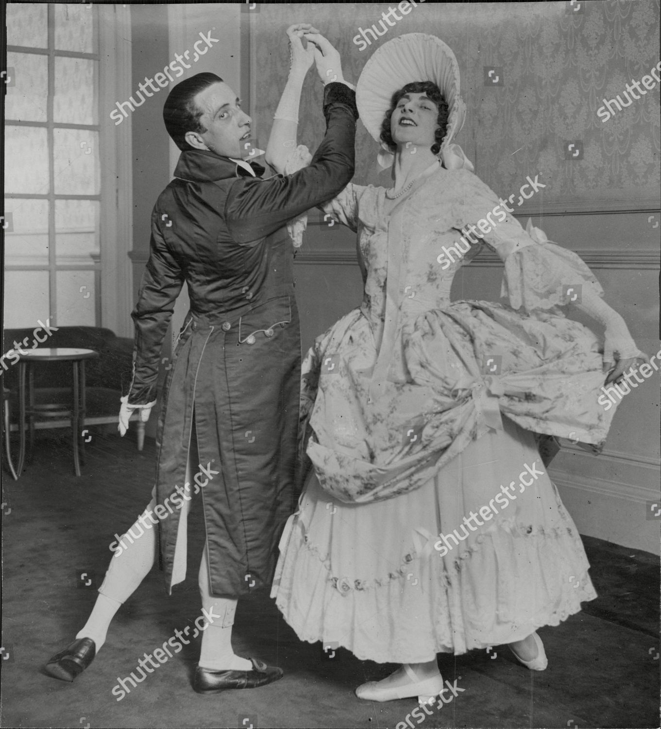 Miss Ivy Shilling Mr Ernest Marini Dancing Editorial Stock Photo