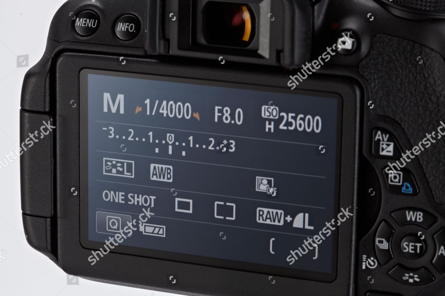 Lcd Screen On Rear Canon Eos 700d Editorial Stock Photo