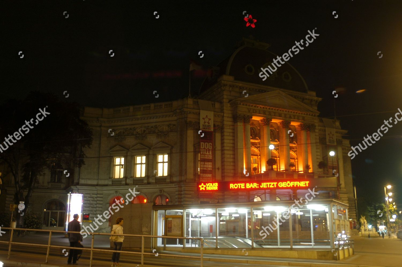 Rote Bar Volkstheater Vienna Austria Editorial Stock Photo Stock