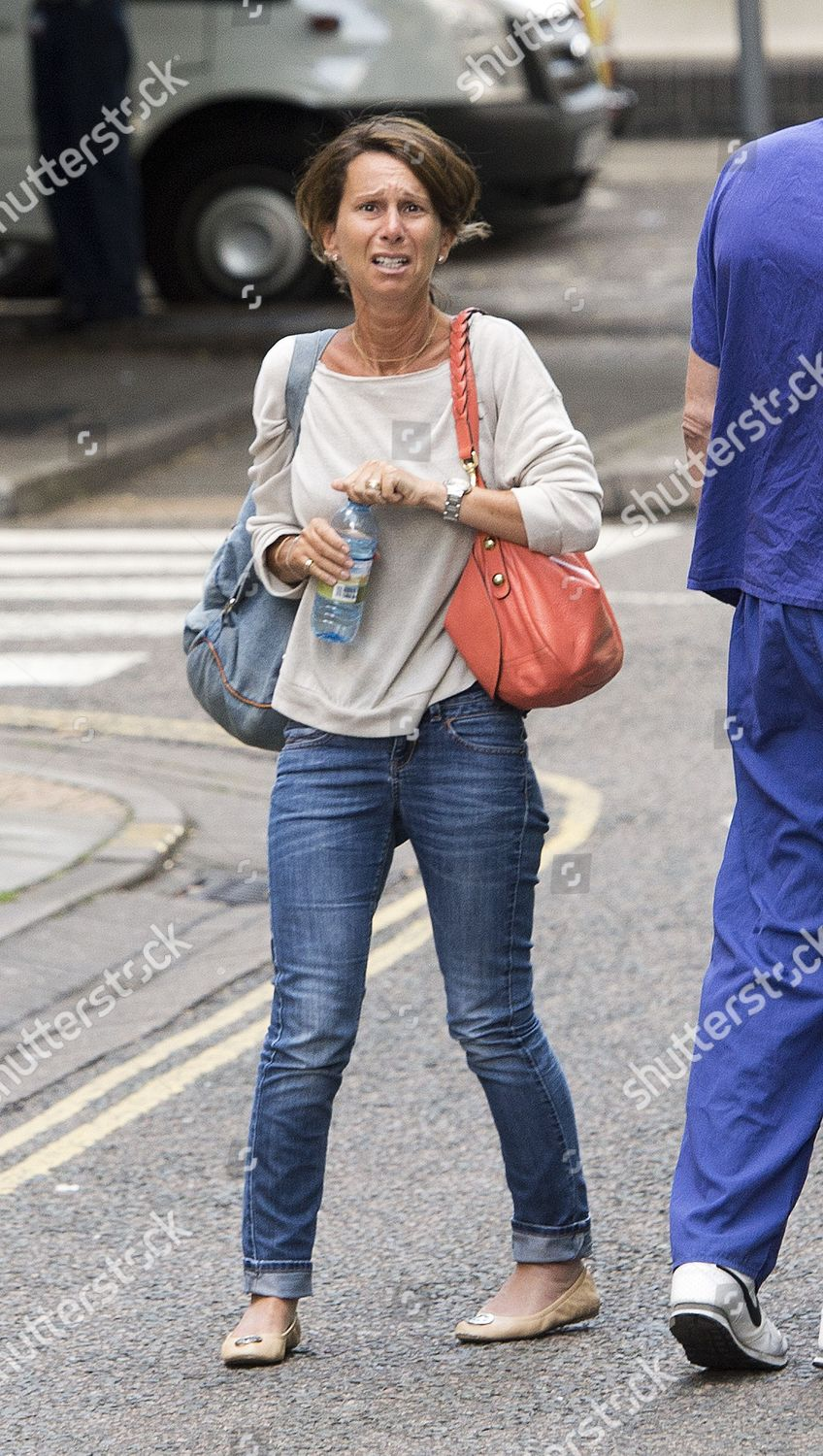 emotional Nicky Gee mother Katie Gee outside Editorial Stock Photo