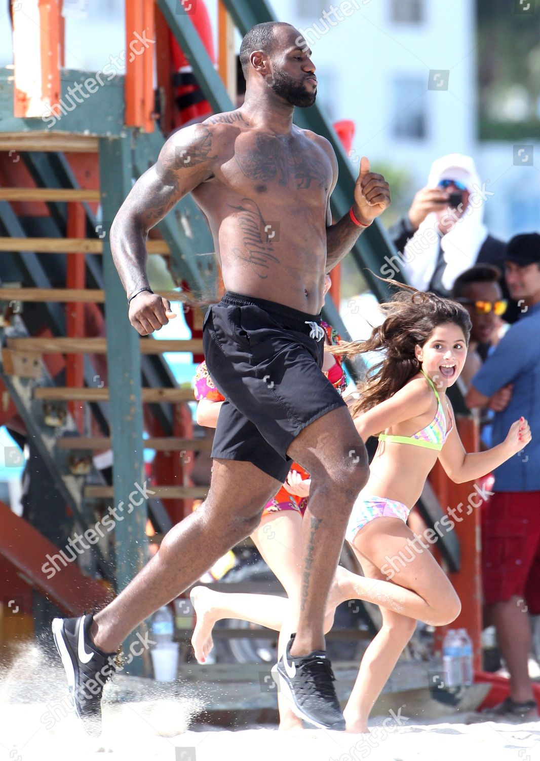 purchase cheap 2b976 2cf9c Lebron James out and about, Miami, America - 17 Aug 2013