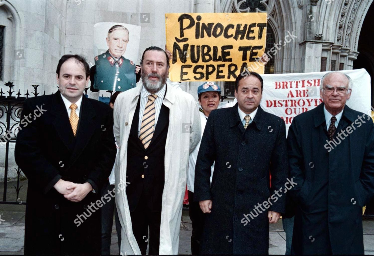 Pro Pinochet Supporters Outside High Court Where Editorial Stock Photo Stock Image Shutterstock