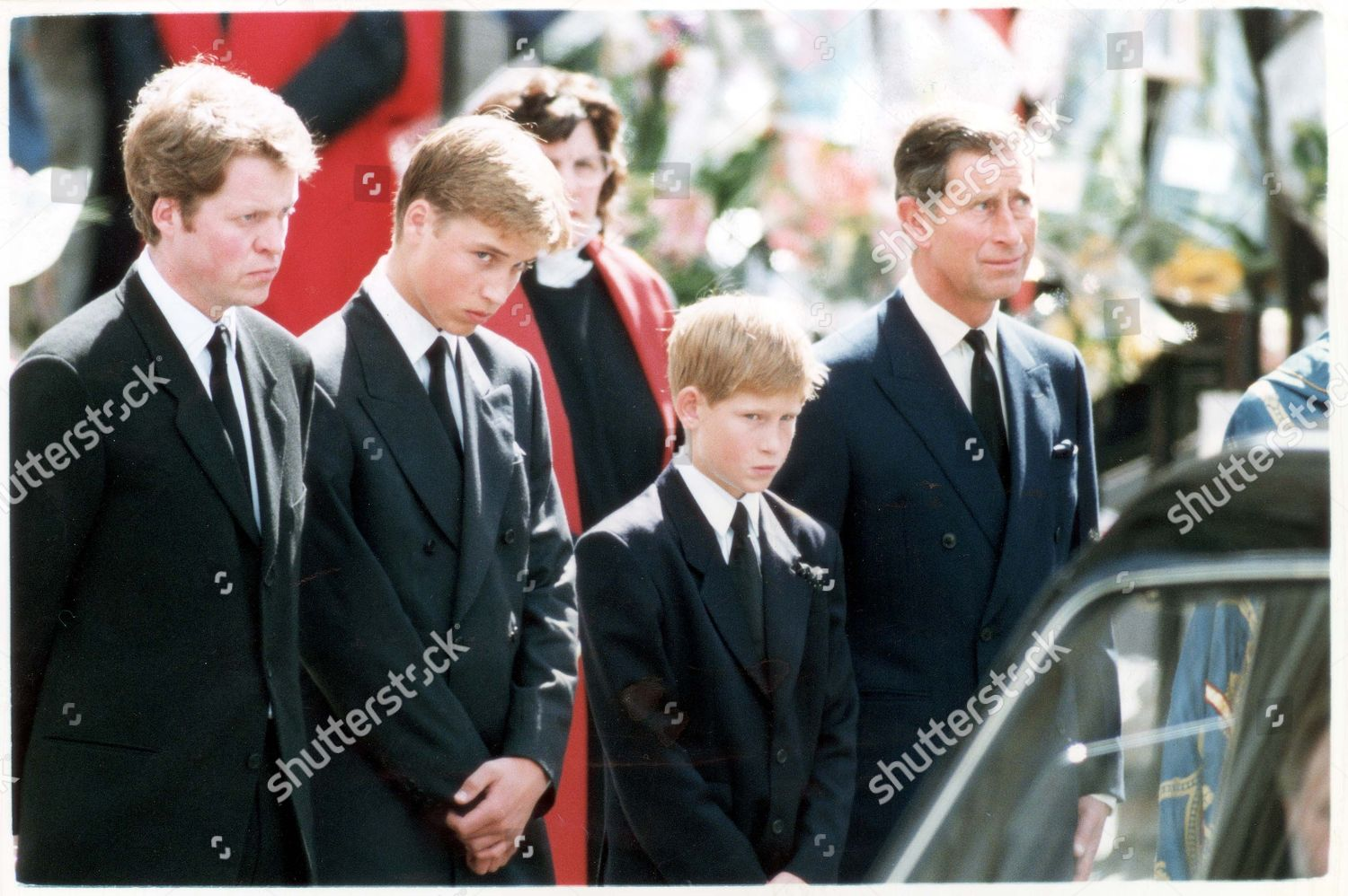 Funeral Diana Princess Wales Earl Spencer Prince Editorial Stock ...