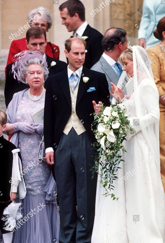 Prince Edward Wedding.Queen Elizabeth Ii Prince Edward Sophie Rhys Editorial Stock