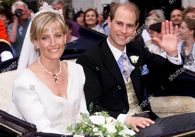 Prince Edward Wedding.Prince Edward Sophie Rhys Jones Editorial Stock Photo