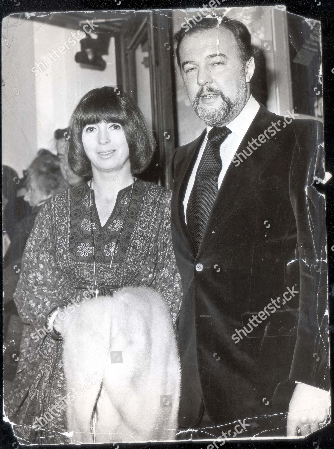 Sir Peter Hall Director Old Vic Wife Stock Photo 3174661a