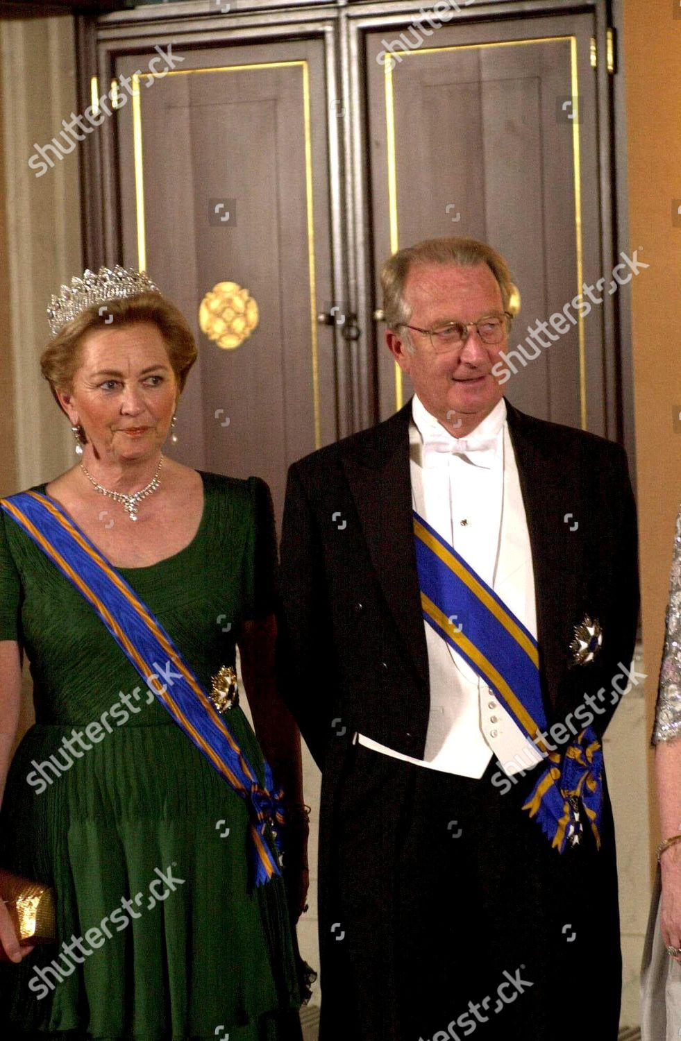 KING ALBERT AND QUEEN PAOLA OF BELGIUM VISIT TO HOLLAND.: стоковое фото