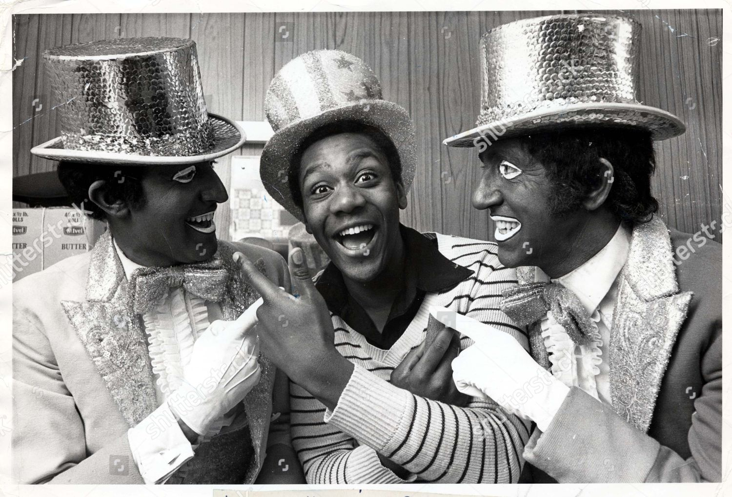 Comedian lenny henry in the black and white minstrel show