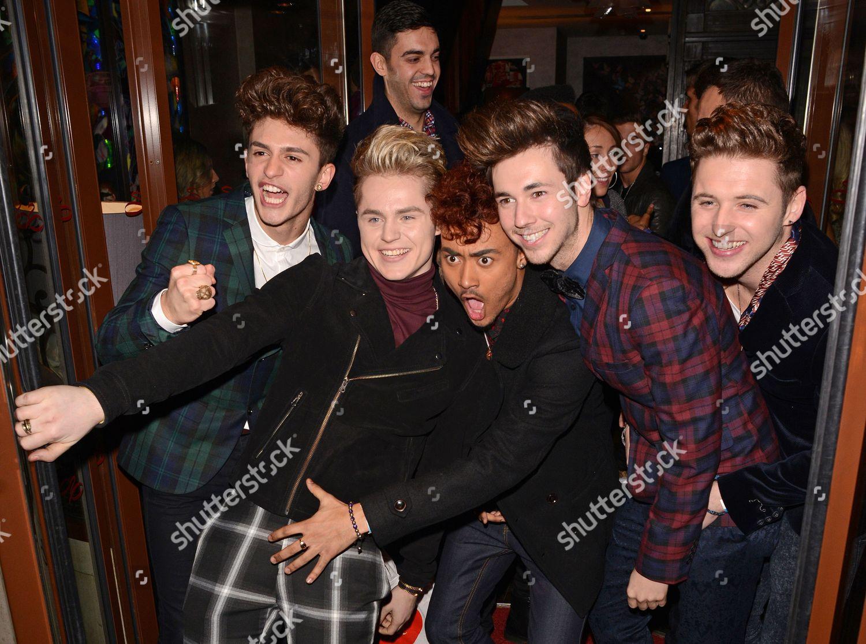Stock photo of Celebrities leaving Now Magazine Christmas party, London, Britain - 26 Nov 2013