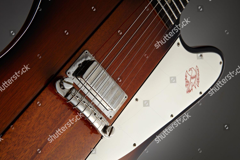 Closeup Gibson Firebird Electric Guitar Guitarist Magazine Editorial
