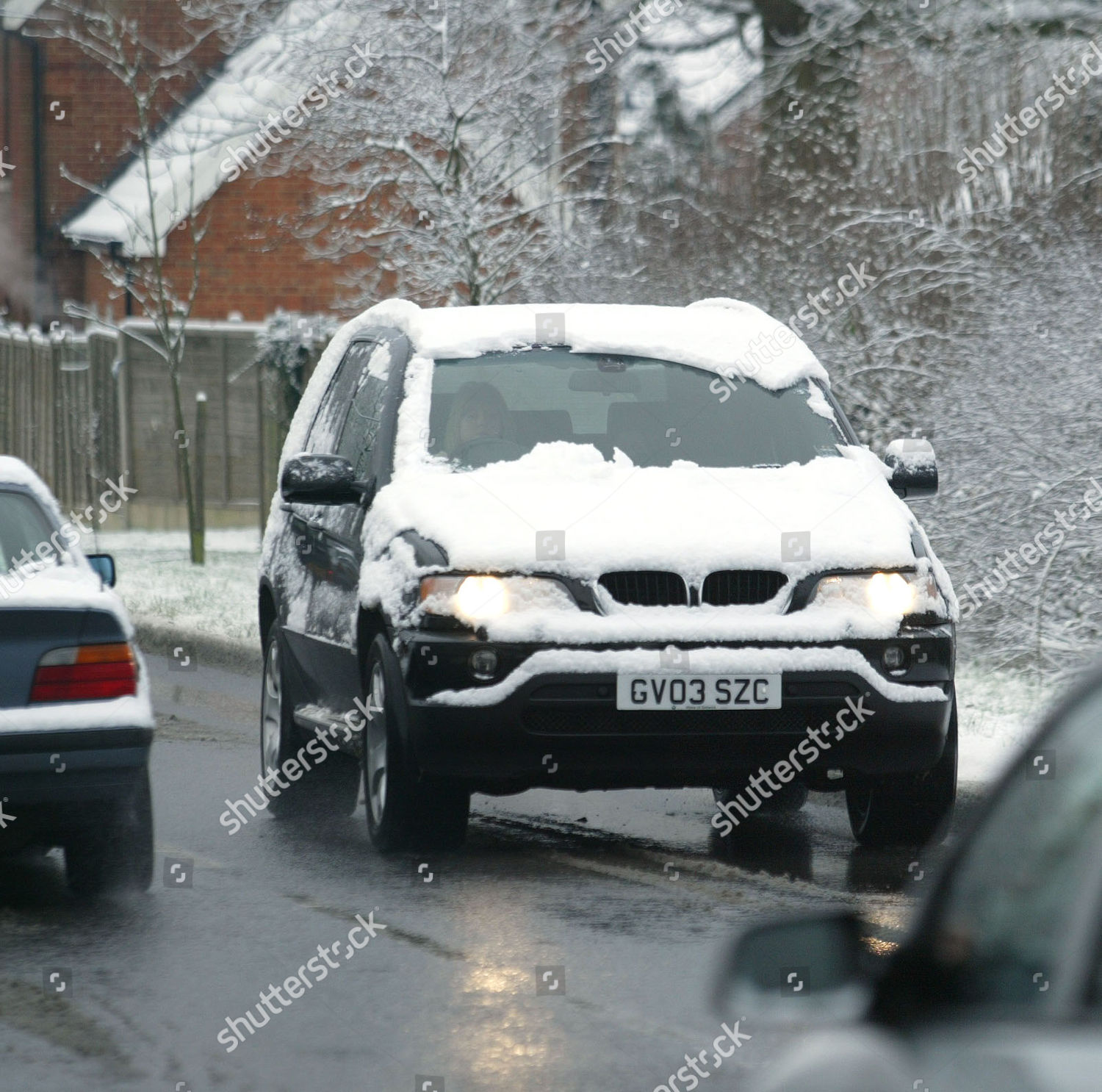 Editorial Who Is Looking Out For These >> Overnight Snow Sussex Left Parts County Looking Editorial Stock