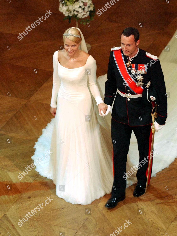PRINCE HAAKON MAGNUS NEW WIFE METTE MARIT Redaktionelles Stockfoto