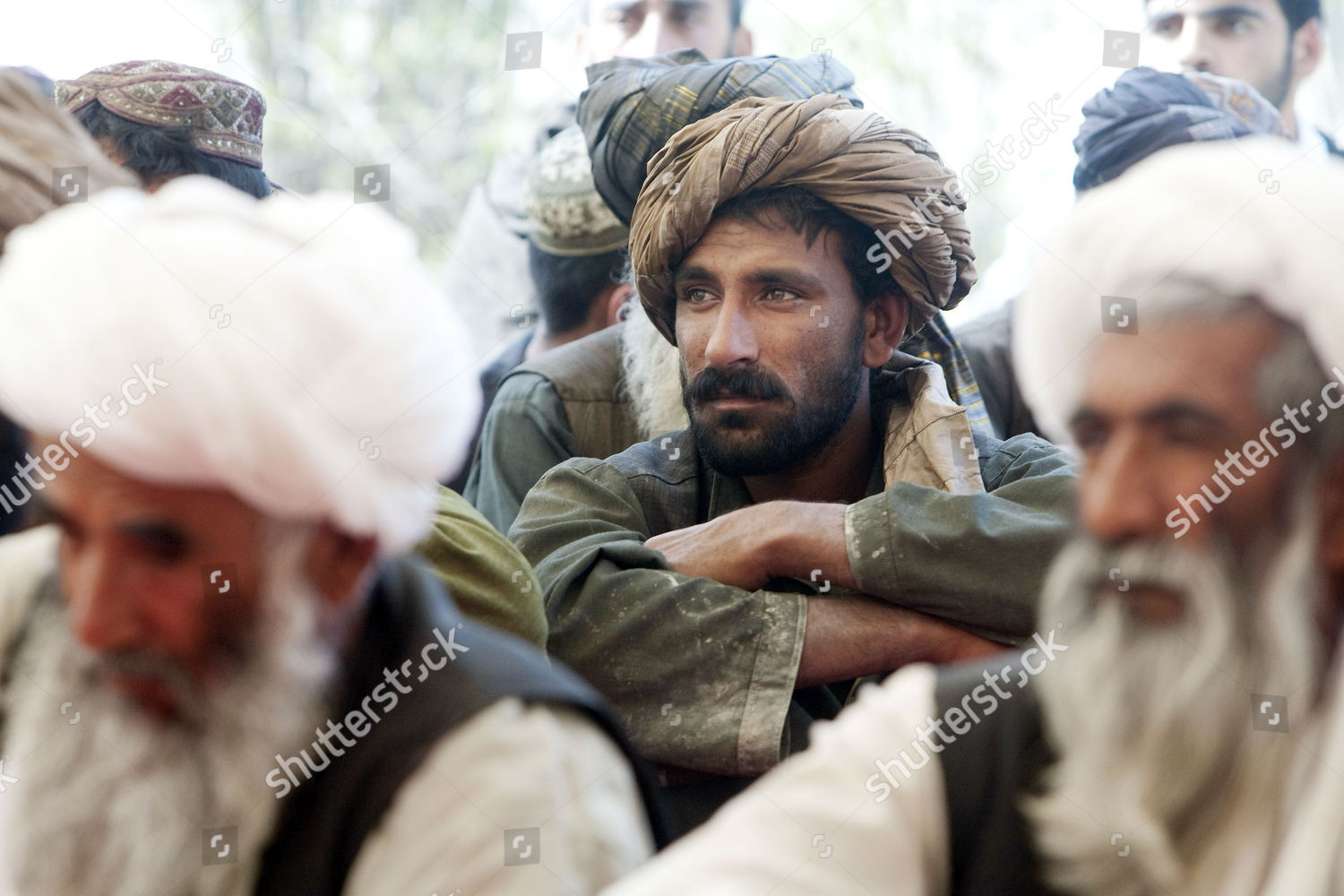 Local Pashtun men attending Shura held by Editorial Stock