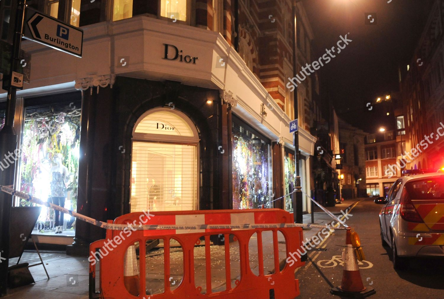 Smash Grab Dior Store Conduit Street Editorial Stock Photo