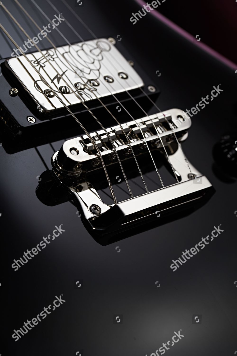 Detail 2in1 Tailpiece Tonepros Bridge On Knaggs Editorial Stock