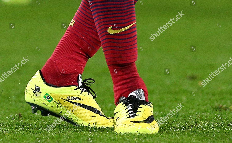 mando Cría Matemáticas  personalised Nike football boots Neymar Barcelona Alegria Editorial Stock  Photo - Stock Image   Shutterstock