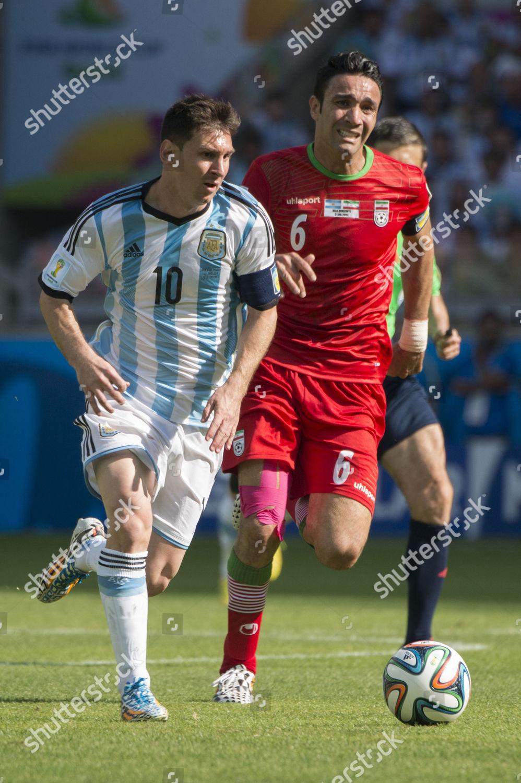 Lionel Messi ARG Javad Nekounam IRI Editorial Stock Photo
