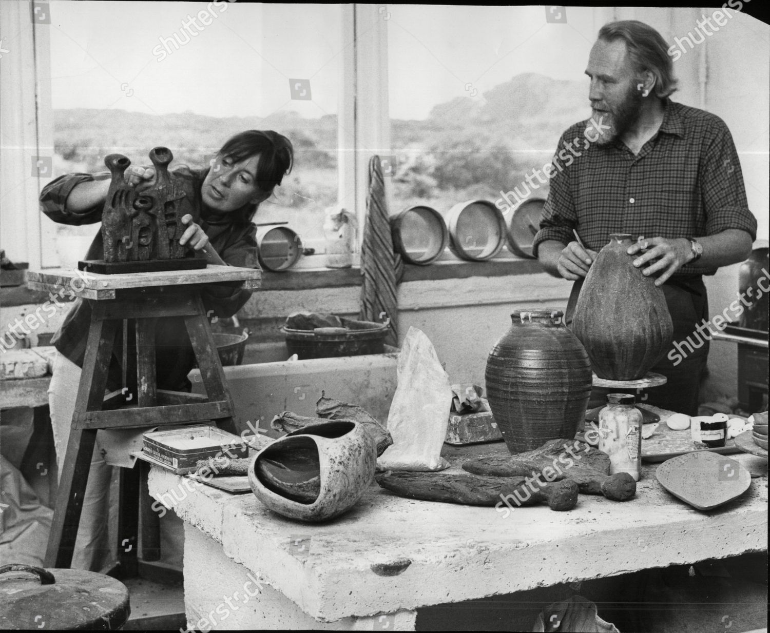 Bill Biddys Pottery Shop Mousehole Cornwall Bill Editorial Stock Photo Stock Image Shutterstock