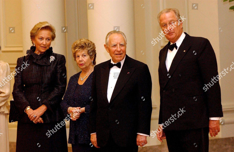 STATE VISIT OF ITALIAN PRESIDENT CARLO AZEGLIO CIAMPI TO BELGIUM - 16 OCT 2002: стоковое фото