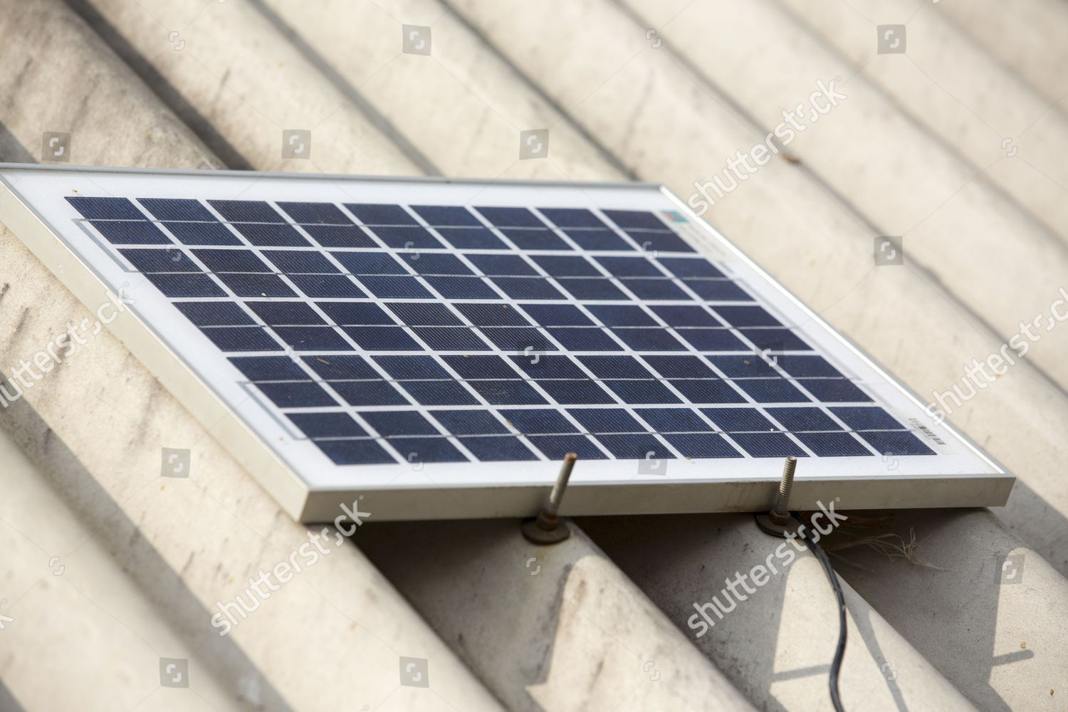 House Small Solar Panel Sunderbans Low Lying Editorial Stock Photo