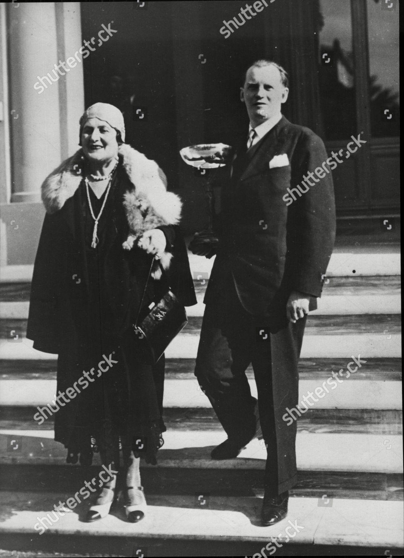 Alexander Alekhine Holding Trophy He Won 1930 Editorial