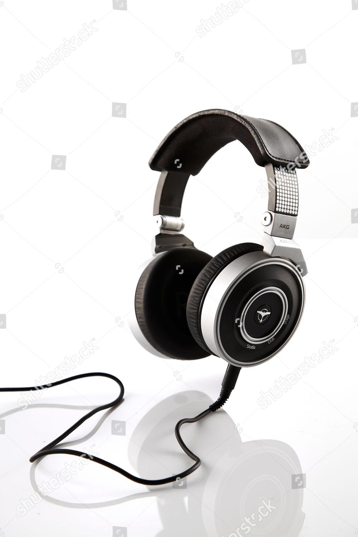 Pair Akg By Tiesto K267 Signature Headphones Editorial Stock