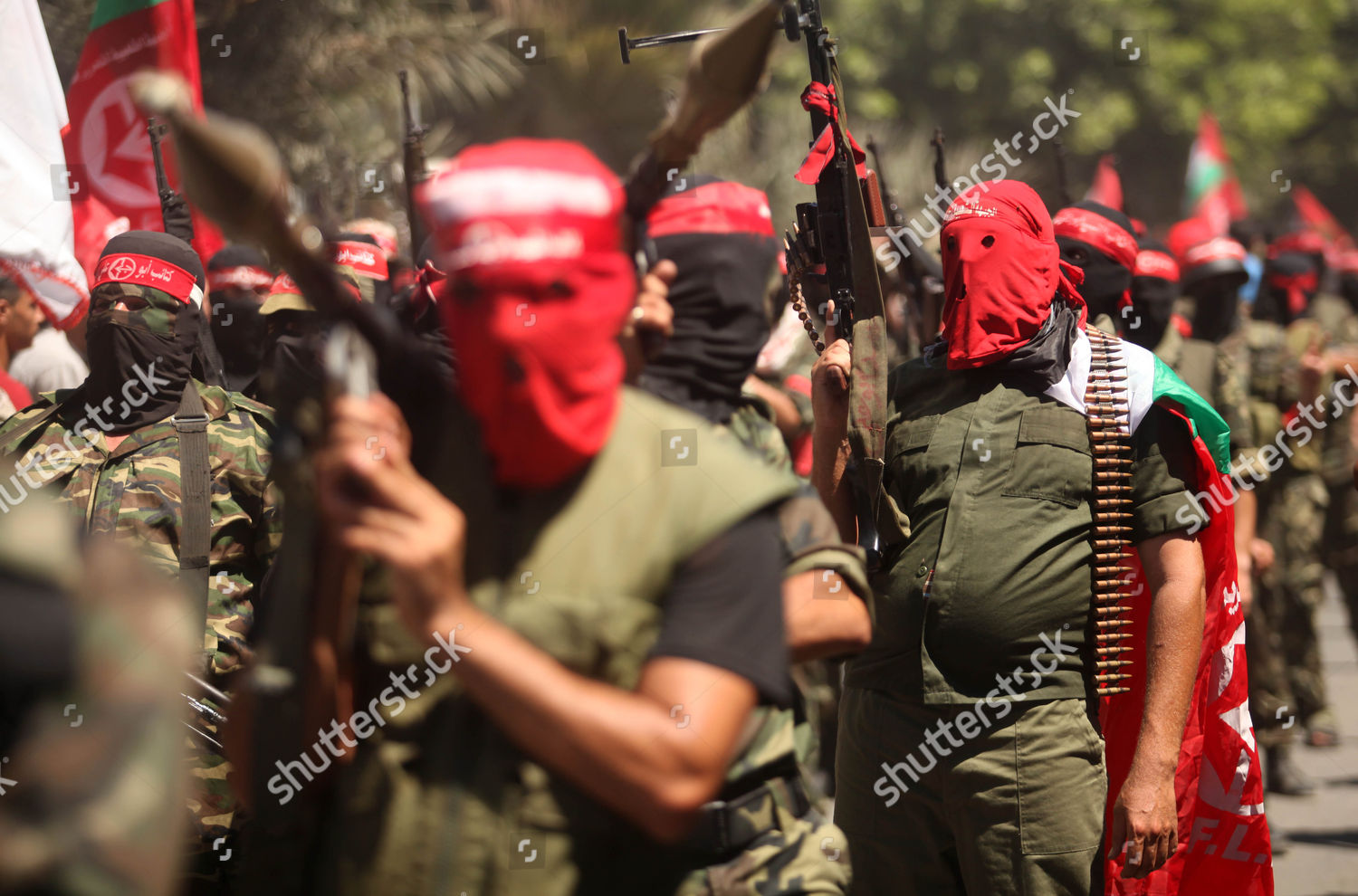'Popular Front for the Liberation of Palestine' militants take part in  military show, Gaza City, Gaza Strip, Palestinian Territories Stock Image  by Majdi ...