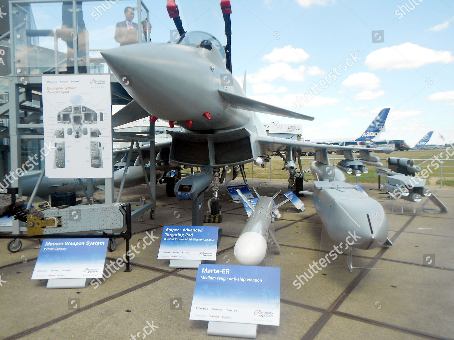 Eurofighter Typhoon missile weapon systems left right