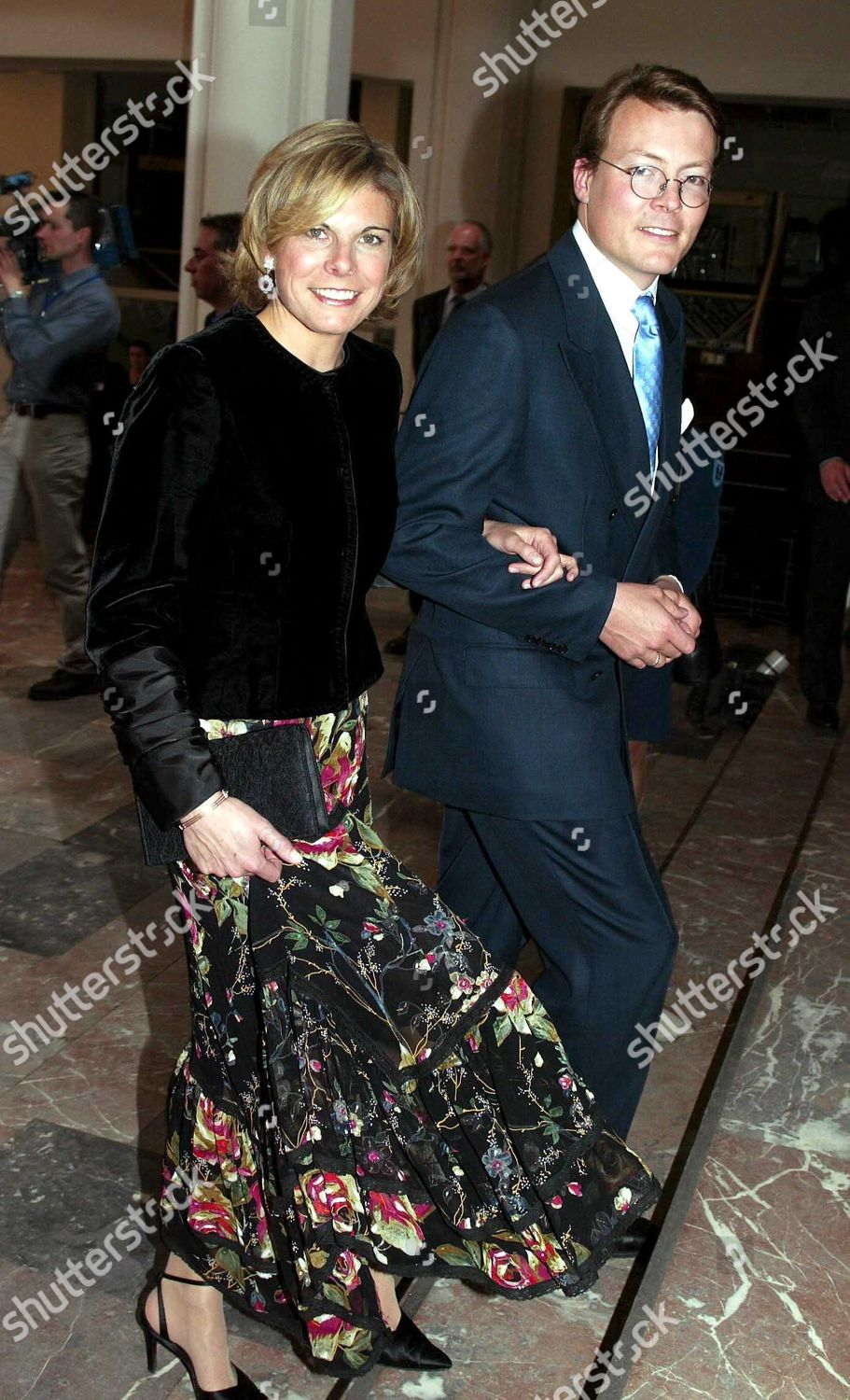 CONCERT ON THE EVE OF THE WEDDING OF PRINCE LAURENT AND CLAIRE COOMBS, PALAIS DE BEAUX ARTS, BRUSSELS, BELGIUM - 11 APR 2003: стоковое фото