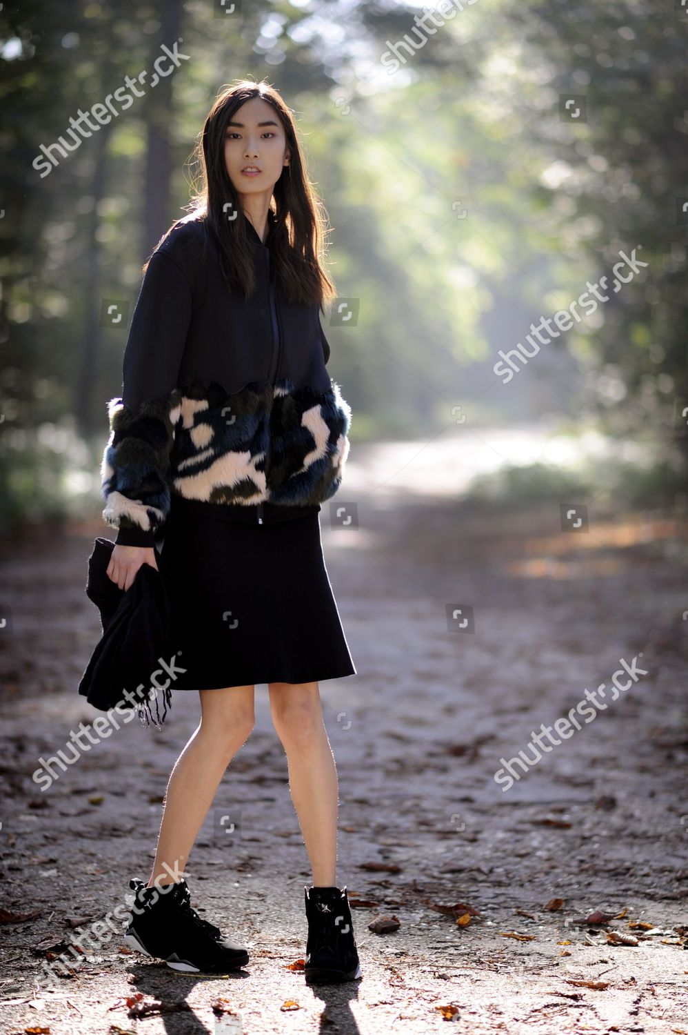 d870f5730 Stock photo of Street Style, Spring Summer 2015, Paris Fashion Week, France  -