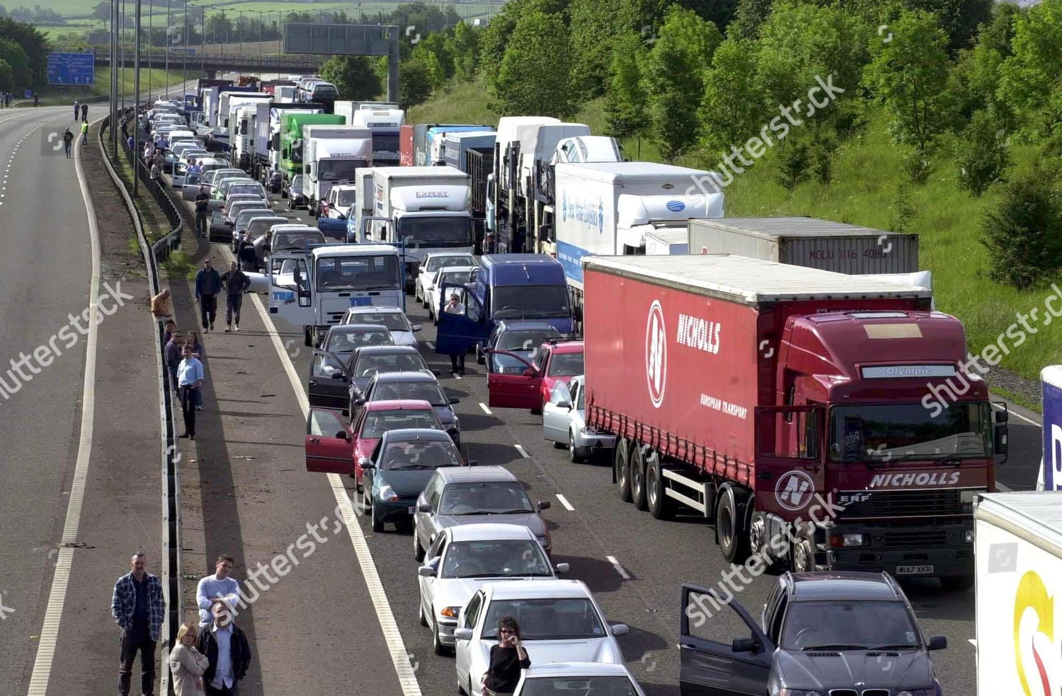 scene Junction 19 on M1 least four Editorial Stock Photo - Stock