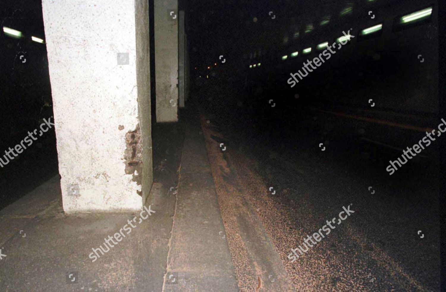 tunnel 13th pillar shortly after accident that editorial stock photo stock image shutterstock https www shutterstock com editorial image editorial various relating to the death of diana princess of wales dodi fayed and their driver henri paul 422985bq