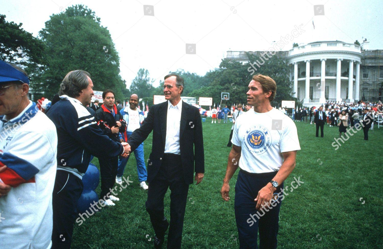 George H Bush Arnold Schwarzenegger On South Editorial Stock Photo Stock Image Shutterstock