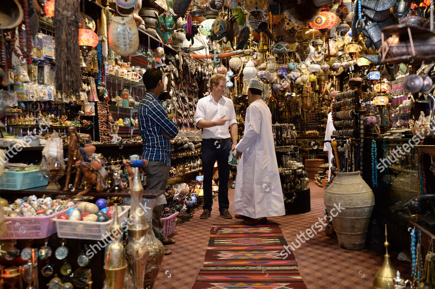 Prince Harry visits Muttrah Souk Editorial Stock Photo
